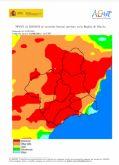 El nivel de riesgo de incendio forestal previsto para hoy es EXTREMO en la mayor parte de la Región
