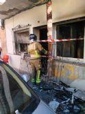 Apagan un incendio de vivienda en Lo Pagan, San Pedro del Pinatar