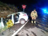 Fallece el conductor de un turismo en un accidente de tráfico ocurrido esta madrugada en Mazarrón