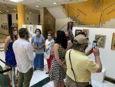 El taller municipal de pintura lleva sus obras al vestíbulo del Ayuntamiento de San Javier