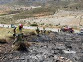 Efectivos adscritos al Plan Infomur acuden a extinguir incendio forestal en Mazarr�n