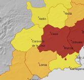 Nivel rojo, naranja y amarillo por temperaturas el lunes en la regi�n de Murcia
