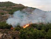 Operativo del Infomur apagan un conato de incendio forestal en la Sierra de la Penarrubia