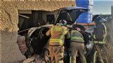 Conductora herida tras empotrar su coche contra una vivienda en Alquibla (Ojós)