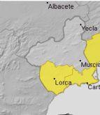 Meteorología emite aviso amarillo de fenómenos meteorológicos adversos por tormentas en la Región de Murcia