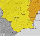 La Agencia Estatal de Meteorolog�a actualiza para hoy su avisos de nivel amarillo por lluvias y tormentas en la Regi�n de Murcia