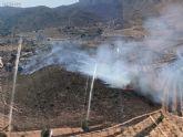 Estabilizado un incendio forestal en Mazarrón