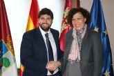 Fernando López Miras recibe a la alcaldesa de Puerto Lumbreras
