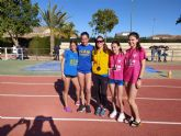 Lluvia de medallas en el Regional de combinadas para el UCAM Atletismo Cartagena