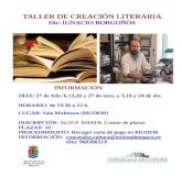 La Concejalía de Cultura de Molina de Segura organiza un Taller de Creación Literaria del 27 de febrero al 24 de abril