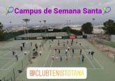 Finaliza el Campus de Semana Santa en el Club de Tenis Totana