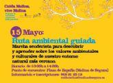 El Ayuntamiento de Molina de Segura invita a participar en la Ruta Ambiental Guiada para conocer el entorno natural más cercano el domingo 15 de mayo