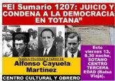 Charla coloquio El Sumario 1207: Juicio y condena a la democracia en Totana
