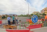 En marcha las obras para la construcción de una rotonda que mejorará el tráfico y la seguridad vial junto al parque Reina Sofía