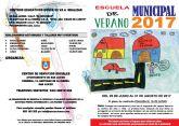 La Escuela Municipal de Verano abre sus puertas para niños de 3 a 12 años, del 26 de junio al 31 de agosto