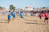 Los alicantinos del Vodka JRS repiten victoria en el torneo de f�tbol playa Bah�a de Mazarr�n