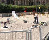Acometen trabajos de mejora y acondicionamiento en el Parque Azul, en la zona de la urbanización La Verja