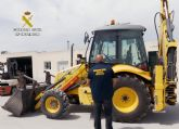 La Guardia Civil recupera una retroexcavadora valorada en 40.000 euros