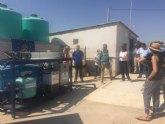 El IMIDA prueba un sistema descontaminante de aguas residuales mediante fotocatálisis solar en una finca de Torre Pacheco