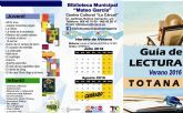 La Biblioteca Municipal Mateo García elabora una guía de lectura para el verano