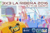 El 3X3 La Ribera 2016 se juega este fin de semana en 10 pistas junto al mar  con 108 equipos y 432 jugadores