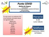 Molina de Segura contará a partir del próximo lunes 14 de septiembre, en el Parque Infantil de Tráfico, con un Punto COVID de toma de muestras para la realización de hasta 350 PCR diarias