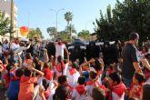Encierro infantil con toros hinchables en Puerto Lumbreras