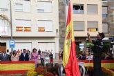 Puerto Lumbreras celebra la Fiesta Nacional de España con el izado de bandera y una misa en honor a la Virgen del Pilar