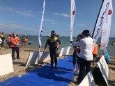 Alberto Lorente consigue el récord mundial de natación a ciegas en mar abierto