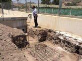 Las obras de instalación de una nueva toma en la impulsión de Virgen de las Huertas se traducen ya en una mejora sustancial en el servicio