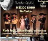 Nuria Fergó, Felipe Garpe y sus mariachis llegan a El Batel con motivo del 125 aniversario de la SAM Santa Cecilia