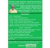 Jornada sobre derecho y directivas europeas Murcia