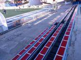 El ayuntamientoha instalado nuevas gradas en el polideportivo municipal con un total de 250 asientos