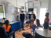 El alcalde de Mula ha visitado hoy las dependencias de Protección Civil donde los voluntarios realizan las labores de rastreo