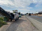 Acometen durante esta semana las obras de rehabilitaci�n del firme de varios tramos de la carretera N-340 en el t�rmino municipal de Totana