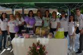 La asociación Fibromialgia Águilas conmemora el día mundial de esta enfermedad con la instalación de un stand informativo