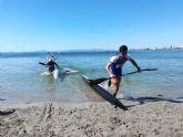 112 palistas de nueve clubes participan en la regata de la Liga Autonómica celebrada en San Pedro del Pinatar