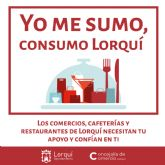 El Ayuntamiento de Lorquí lanza la campaña 'Yo me sumo, consumo Lorquí' para ayudar a comerciantes y hosteleros