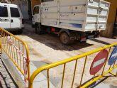 Cortada al tr�fico la calle S�nchez Vidal por un derrame de gasoil