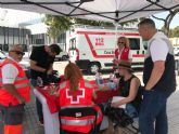 Ayuntamiento, AECC y Cruz Roja reparten 1.000 muestras de crema solar y 400 botellines de agua dentro de la campaña de sensibilización contra los golpes de calor y la radiación UV
