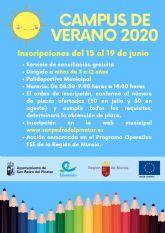 San Pedro del Pinatar ofrece un campus de verano gratuito dirigido a niños de 3 a 12 años para favorecer la conciliación
