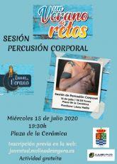 La Concejalía de Juventud de Molina de Segura organiza una sesión de percusión corporal el miércoles 15 de julio, dentro del programa UN VERANO DE RETOS