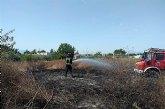 Incendio de bancales y cultivos abandonados en El Llano de Molina