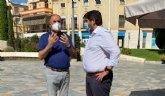 El alcalde mantiene una nueva reunión institucional con López Miras aprovechando su visita al municipio, reiterándole la necesidad de ayudas directas a hosteleros y comerciantes
