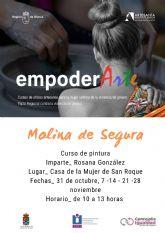 La Concejalía de Igualdad y Violencia de Género de Molina de Segura organiza el curso de pintura EMPODERARTE 2020