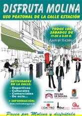 El Ayuntamiento de Molina de Segura pone en marcha la campaña DISFRUTA MOLINA, una iniciativa municipal que supone la peatonalización parcial de las calles Estación y Santa Teresa, todos los sábados, a partir del 16 de octubre