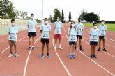 El equipo masculino Sub14 del Club Atletismo Alhama, al nacional de Gijón