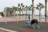 La Playa de Las Palmeras se convierte en un gimnasio al aire libre