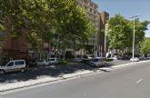 Corte de tráfico en el Paseo Alfonso XIII para el pintado de la mediana