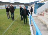 Pascual Lucas visita varias actuaciones realizadas en el área de Deportes